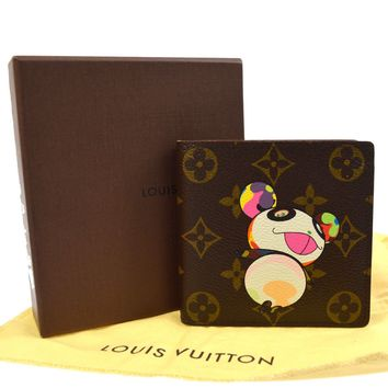 AUTHENTIC LOUIS VUITTON MONOGRAM PANDA TAKASHI MURAKAMI WALLET M61666 TG01713