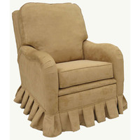 Angel Song 202621172Down Faux Suede Camel Adult Kensington Recliner w/ Plush Down Cushion