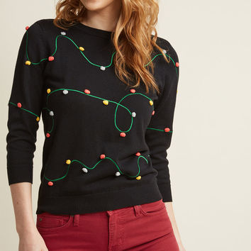 Holiday Lights Knit Sweater