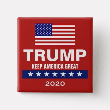 DONALD TRUMP 2020 SQUARE BUTTON