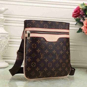Louis Vuitton Shopping Leather Tote Crossbody Satchel Shoulder Bag