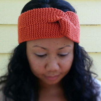 Hand Knit Twisted Headband/Turban Fits Adult and Child  Choose from a Variety of Colors