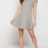 Gray Ribbed Princess Cut Swing Dress | Casual Dresses | rue21