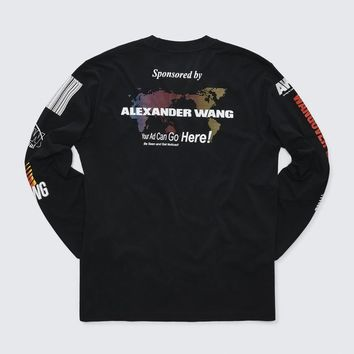 Alexander Wang SPONSORED LONG SLEEVE TEE TOP | Official Site