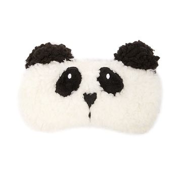 Faux Shearling Panda Eye Mask