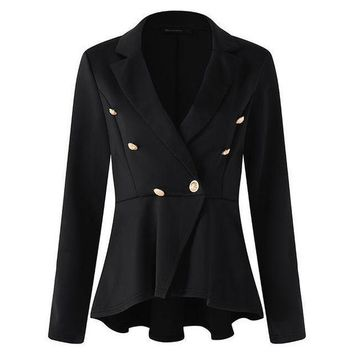 VONE05F8 Womensblazers jackets long sleeve turn down collar wear to work  business blazer jacket plus size s 5xl