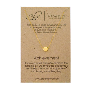 Achievement Necklace- Gold Silver Dot Necklace Celebrate Achievement Gift Ideas For Graduates Inspirational Christmas Gift for Students BFF
