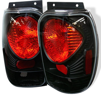 Ford Explorer 98-01 (Except 2001 Sport & Sport Trac) / Mercury Mountaineer 97-01 Euro Style Tail Lights - Black