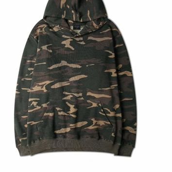 Autumn Military Camo Men Hoodie Sweatshirt Streetwear Hip Hop Loose Hoodies Kanye Weat Fleece Casual Pullover