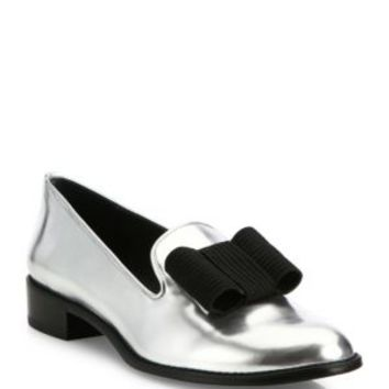 Stuart Weitzman - Manila Patent Leather Metallic Platform Oxfords