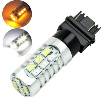 50W 3157 Yellow White LED 5630 Dual Color Switchback Turn Signal Light Bulbs