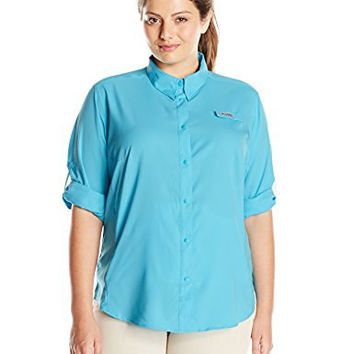 Columbia Sportswear Women's Plus-Size Tamiami II Long Sleeve Shirt, 3X, Atoll