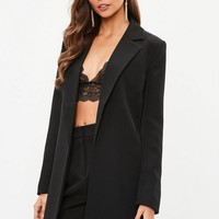 Missguided - Black Boyfriend Blazer