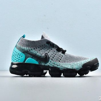 Nike Air VaporMax Black Grey Sky Blue Toddler Kid Running Shoes Child Sneakers - Best Deal Online
