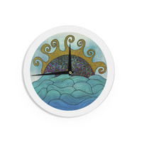 "Pom Graphic Design ""Oceania"" Wall Clock"