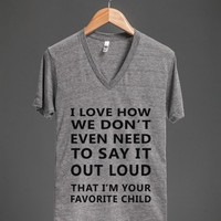 favorite child v neck - Totes Adorbs Tees - Skreened T-shirts, Organic Shirts, Hoodies, Kids Tees, Baby One-Pieces and Tote Bags