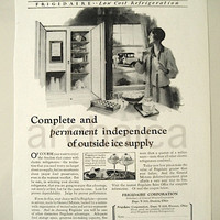 1927 Frigidaire Corporation Print Ad / Vintage Advetisement / Ready To Frame / Kitchen Decor / Gift For Her