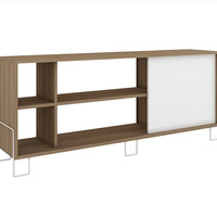 Accentuations by Manhattan Comfort Eye- catching Nacka TV Stand 2.0 with 4 Shelves and 1 Sliding Door