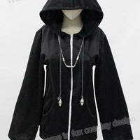 Kingdom Hearts Organization 13 XIII Hoodie Jacket black