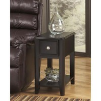 T007-371 Breegin Chair Side End Table - Almost Black - Free Shipping!