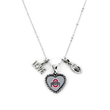 Ohio State Buckeyes Necklace Charmed Sport Love Football