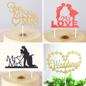 Wedding Theme Cupcake Cake Topper