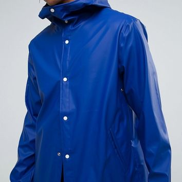 Herschel Forecast Hooded Coach Jacket Waterproof in Blue at asos.com