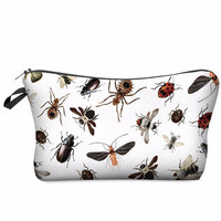 Classic Tropical Fauna Makeup Cosmetics Bag