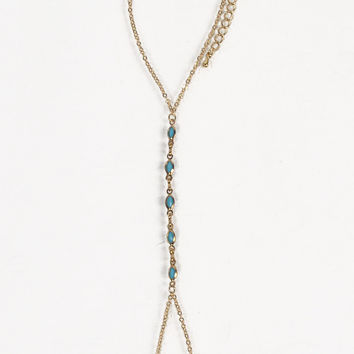 Turquoise Centered Hand Chain