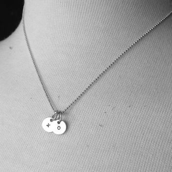 Sterling Silver xo Necklace, Hugs and Kisses Necklace, xo Jewelry,Tiny xo Charm, Hugs and Kisses Jewelry, Sterling Silver Jewelry