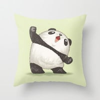 Panda Throw Pillow by Toru Sanogawa