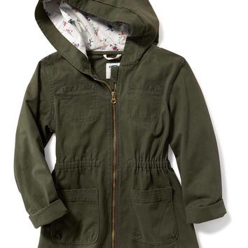 Fitted Utility Jacket for Girls | Old Navy