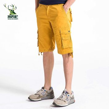 High quality new fashion style men short pants travel beach mens cargo shorts casual cotton washing short size30-40 1fh