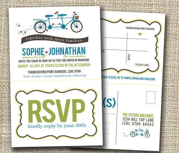 Custom Perforated Wedding Invitations Or From Westwillow On Etsy