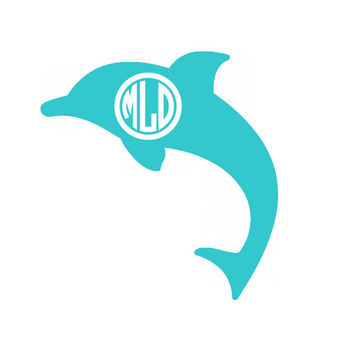Customized Dolphin Laptop, iPad, Car Vinyl Decal PERSONALIZED