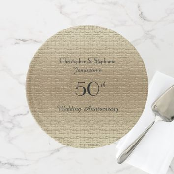 50th Wedding Anniversary, Golden Anniversary Cake Stand