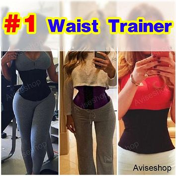 Underbust Corset Waist Trainer Cincher Girdle Sport Body Shaper Workout Belly Belt Top