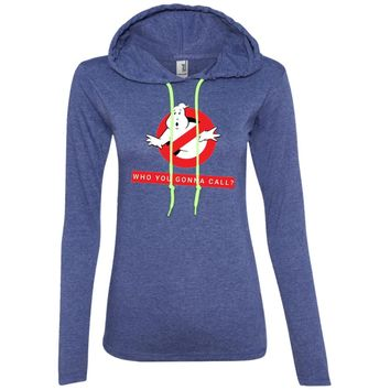 Ghostbusters who you gonna call1-01 887L Anvil Ladies' LS T-Shirt Hoodie