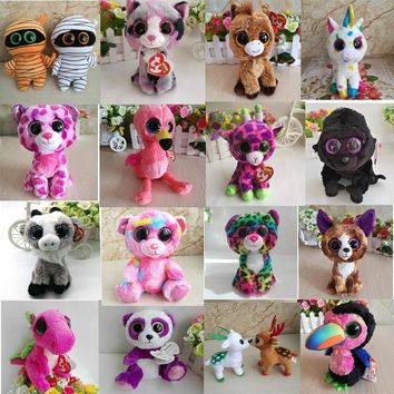Ty Beanie Boos Mummy Goat Flamingo Toucan Bird Dragon Cat Horse Unicorn Leopard Giraffe Gorilla Bear Chihuahua Dog Panda Bat Toy