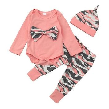 Kids Clothes Newborn Toddler Baby Girls 3 Piece