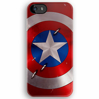 The Avengers Captain America Shield Star Circle pattern iPhone 5, iphone 4 4s, iPhone 3Gs, iPod Touch 4g case by Pointsale Store