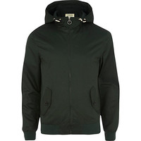 River Island MensDark green casual bomber jacket