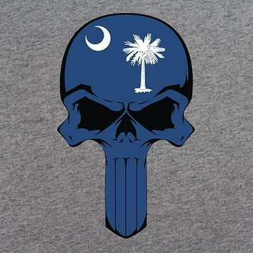 South Carolina State Flag Skull T-Shirt