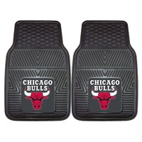 Fanmats 2-pk. Chicago Bulls Heavy Duty Car Floor Mats (Black)