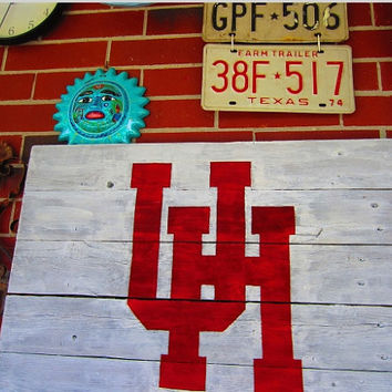 University of Houston Rustic Sign by TheSignsOfEveryTime on Etsy