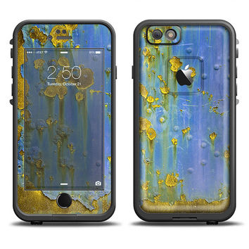The Blue Metal with Gold Rust LifeProof Case Skin Set (Other LifeProof Models Available!)