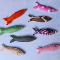 Felt food : Rainbow fishes