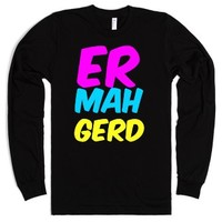 Er Mah Gerd Long Sleeve-Unisex Black T-Shirt