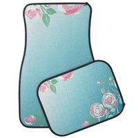 Cute Girly Pink and Blue Floral