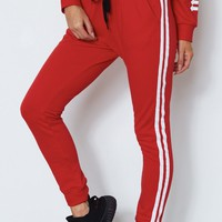 Zola Sweatpants Red